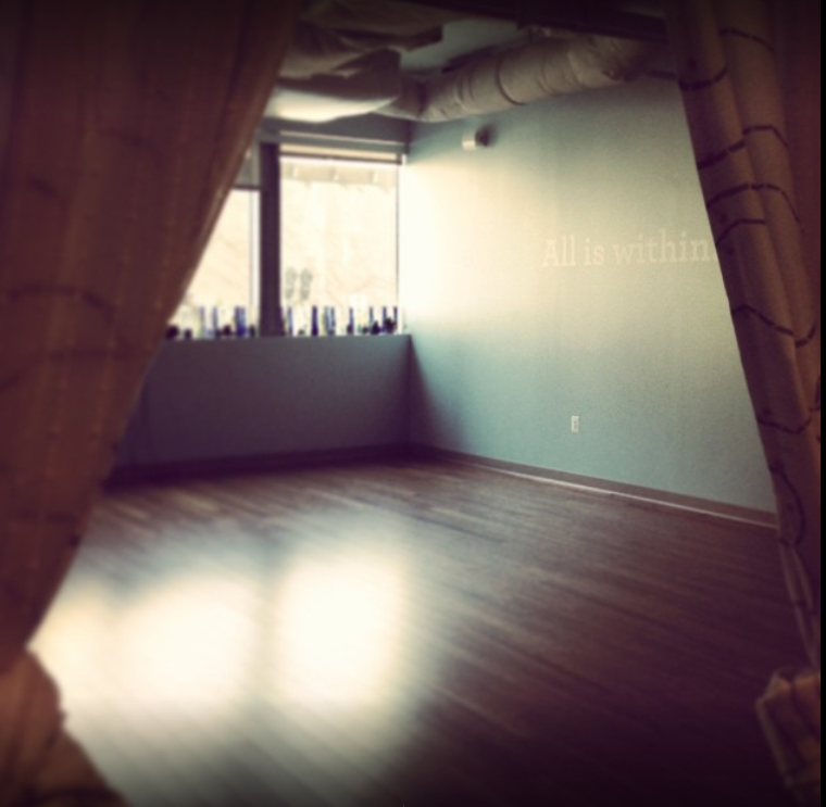 Picture of empty Yoga Room in dark shade